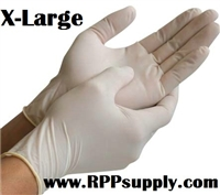 Disposable Powder Free Latex Daycare Gloves 10 x 100ct X-LARGE