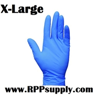 Disposable Blue Nitrile Powder Free Daycare Gloves XL 10 x 100ct X-LARGE