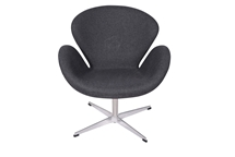 Arne Jacobsen Swan Chair in Dark Gray