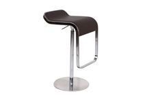 LEM Style Piston Bar Stool in Brown Genuine Leather