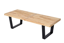 George Nelson Style 4' Platform Bench with Natural Wood Finish