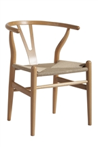 C24 Wishbone Chair in Natural Wood
