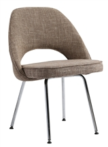 Eero Saarinen Style Executive Side Chair in Oatmeal