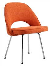Eero Saarinen Style Executive Side Chair in Orange