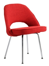 Eero Saarinen Style Executive Side Chair in Red
