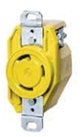 30 Amp 125 Volt Yellow Receptacle