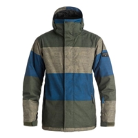 Quiksilver Mission Printed Snow Jacket - S Striped Forest Night