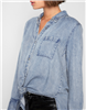 High Low Denim Tie Top from 7 for all mankind