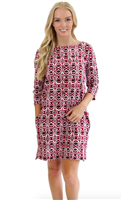 Ashley Boatneck Dress from All For Color