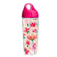 Painted Floral Tervis Water Bottle from Ashley Brooke Designs