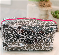 "Zipper Cosmetic Bag in ""Point Blank from buckhead betties"