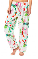 White Merry Moderns Flannel Pajama Pants