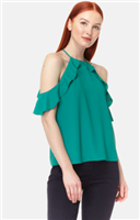 Saga Ruffle Cold Shoulder Top from Cooper & Ella