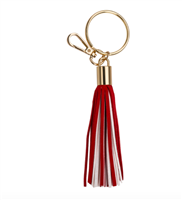 crimson and white Tassel Key chain from Fanfare