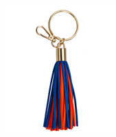 royal blue and orange Tassel Key chain from Fanfare
