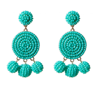 Nelly Earrings in turquoise from Fornash