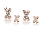 Mini X Stud Duo Earrings