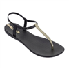 Ipanema Bandeau Sandal in black and gold hardware