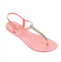 Ipanema Bandeau Sandal in pink and gold hardware