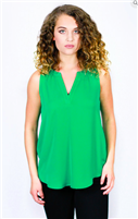 Green Sleeveless Top form Jade by Melody Tam