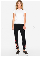 black leggings with Embroidery from Johnny Was