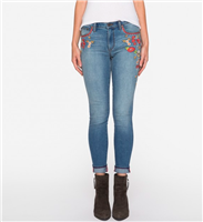 Indigo Embroidered Skinny Jeans from Johnny Was