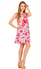 Halter dress with floral print