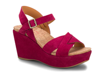 Dark Pink wedge sandal from Kork-Ease