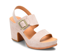 "San Carlos 3 1/2"" suede sandal in light pink from Kork-Ease"