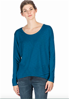 Long Sleeve Easy Tee in sapphire from LILLA P