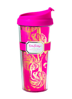 Lilly Pulitzer Thermal Mug in Magenta Gimme Some Leg