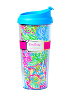 Lilly Pulitzer Thermal Mug in Multi Lovers Coral