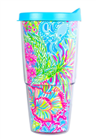 Lilly Pulitzer Insulated Tumbler Lovers Coral