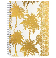 "Lilly Pulitzer Mini Notebook ""Metallic Palms"""