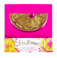 Lilly Pulitzer Orange Slice Bottle Opener