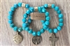 Set of 3 Turquoise Stretch Bracelets from Lula 'n' Lee