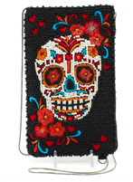 Skull Flower beaded cross-body phone bag from Mary Frances