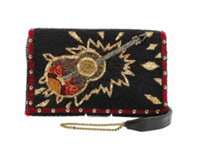 beaded guitar cross-body clutch from Mary Frances
