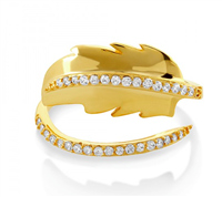 Gold Feather Wrap Ring from Melinda Maria