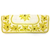 Burlap Flower Clutch Yellow
