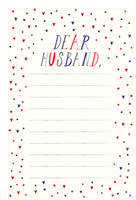 Colorful notepad of 50 tear off sheets to communicate with your husband