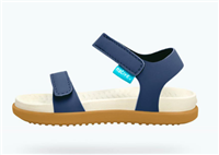 blue plastic sandal with velcro straps
