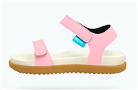 pink plastic sandal with velcro straps