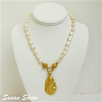 Gold Oyster Shell Necklace from Susan Shaw