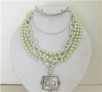 3 Strand Pearl Necklace with Bee from Susan Shaw