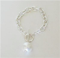 Silver and Cotton Pearl Bracelet from Susan Shaw