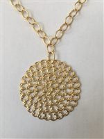 Handcast Gold Filagree Necklace from Susan Shaw
