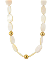 Gold Plated White Necklace from Susan Shaw