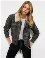camo bomber jacket from sanctuary