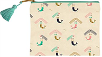 Mermaid Canvas Cosmetic Bag from Slant